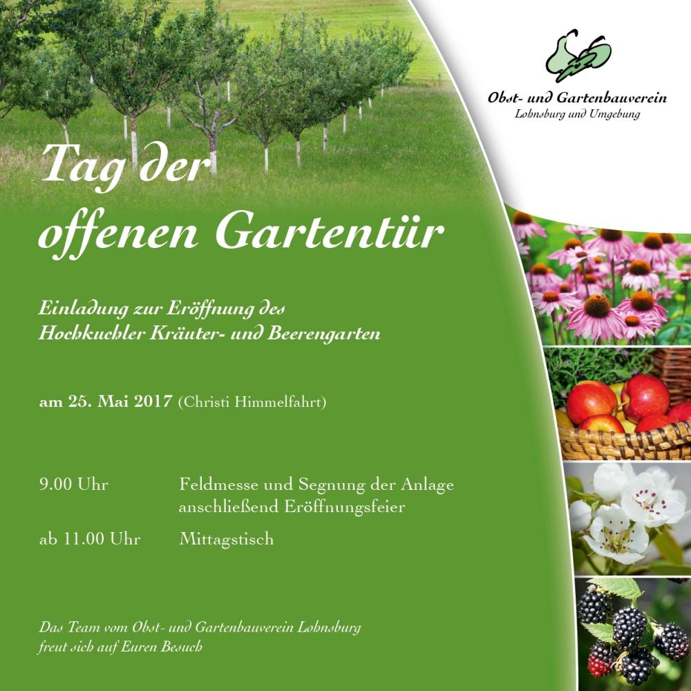 Einladung OGV Eröffnungsfeier